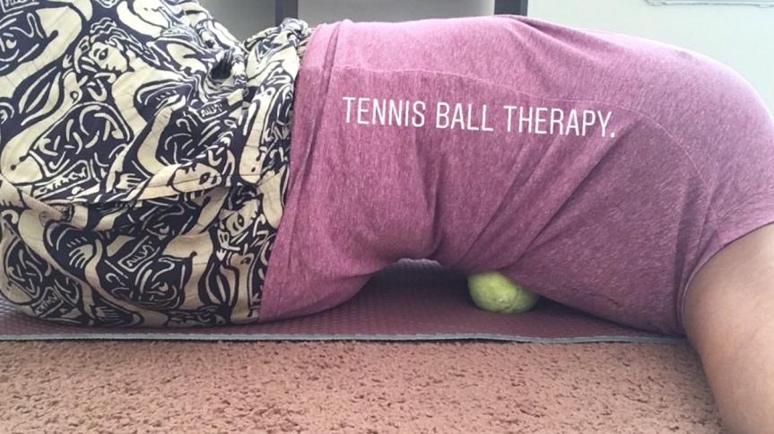 TENNIS BALL BABE.